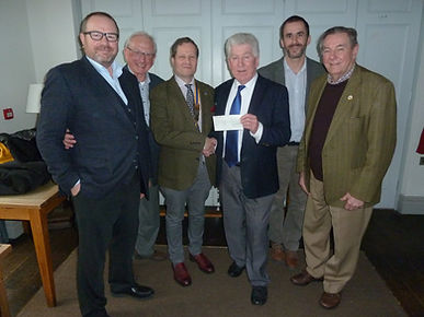 Rotary Holly and Quiz cheque presentatio