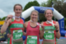 L-R 2nd Lucy Williamson of Ilkley Harrie
