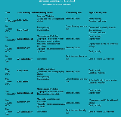 Arts weekend timetable.png