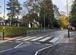 New crossing outside Ilkley Grammar School