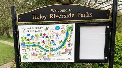 New signage arrives in Ilkley's riverside parks