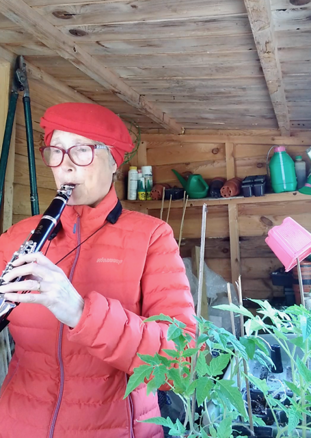 Stranger on the Shore played by Helen in her shed