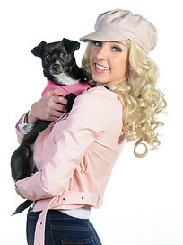 Lois Brook as Elle Woods with Bruiser Wo
