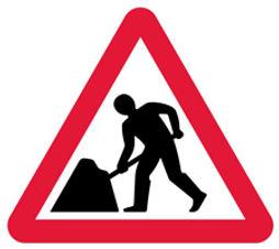 Road works sign.JPG
