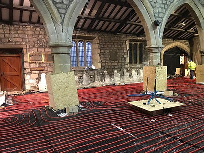 All Saints Church Ilkley building works.