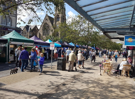 Wide variety of stalls at Sunday's Real Food Ilkley