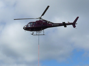 Helicopter helps with moor improvements