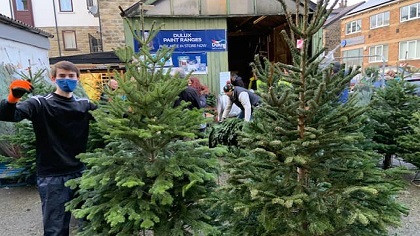Two Ilkley charities benefit from Christmas tree sales