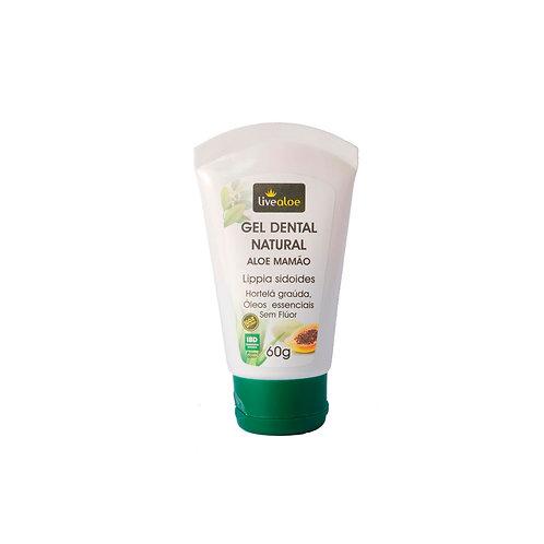 Gel Dental Natural Aloe Mamão LiveAloe
