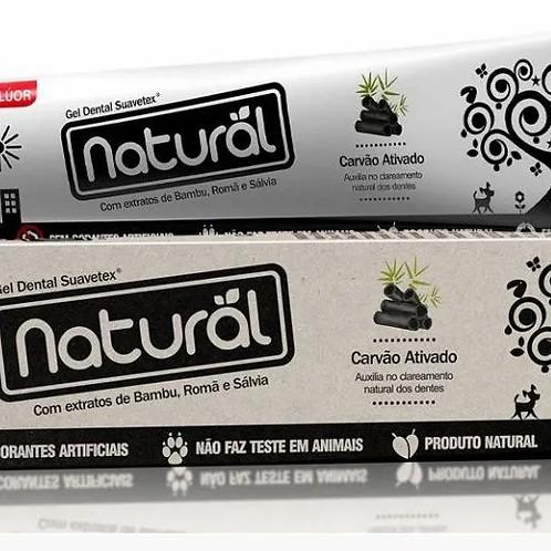 Creme Dental Natural Orgânico com Carvão Aditivado