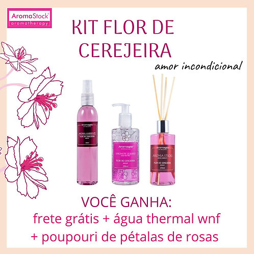 Kit Flor de Cerejeira - Spray, Sabonete e Sticks