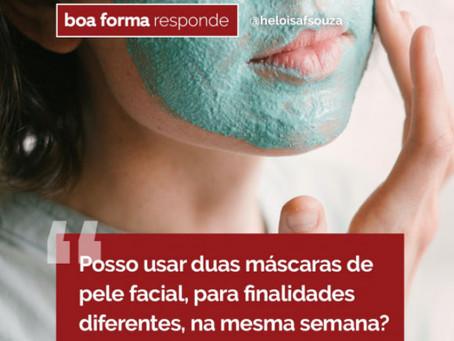 Posso usar duas máscaras de pele facial, para finalidades diferentes na mesma semana?