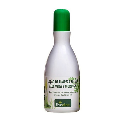 Loção de Limpeza Facial Aloe vera e Moringa LiveAloe