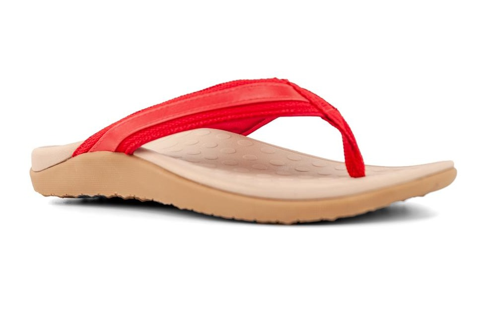 Sun ~ Orthotic Thong ~ Red