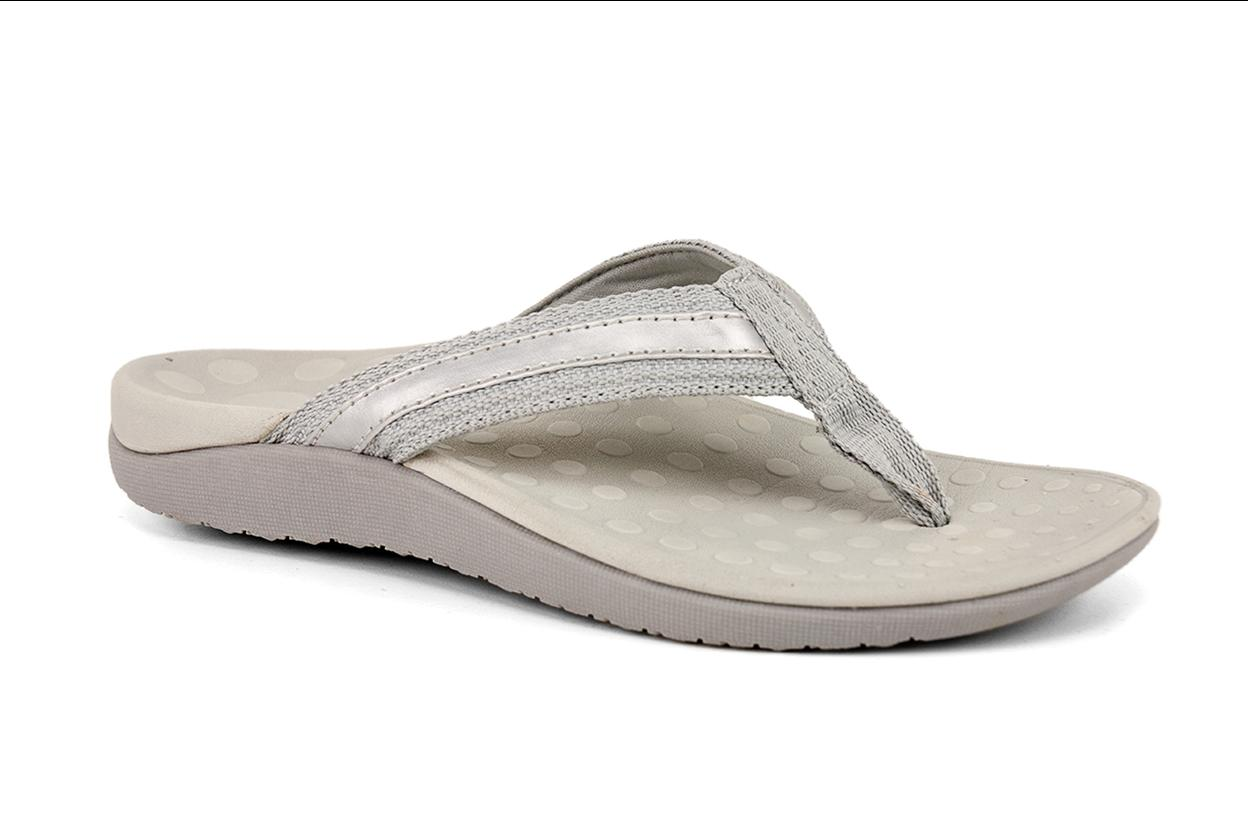 Sun ~ Orthotic Thong ~ Silver