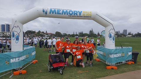 """Lorella walking for """"The Race Against Dementia"""" on the Gold Coast"""