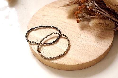 Bracelet Anatole - acier inoxydable et pierre naturelle