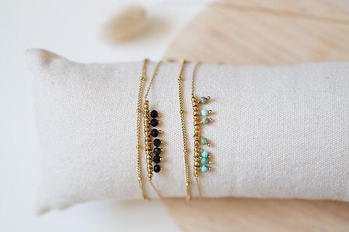 Bracelet Kaya - 2 rangs - Acier Inoxydable