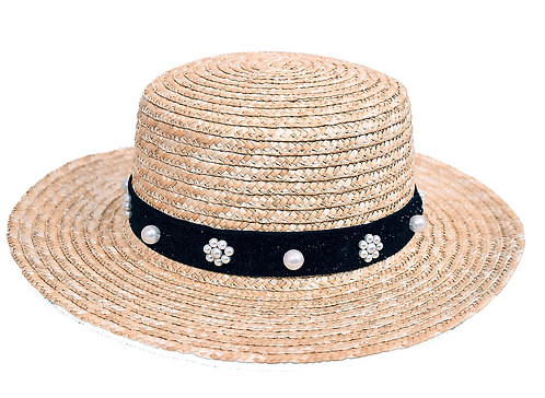 Pearl Hat (Regular Bow) Boater Hat