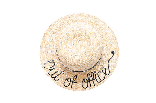 Out of Office (Regular Bow) Boater Hat