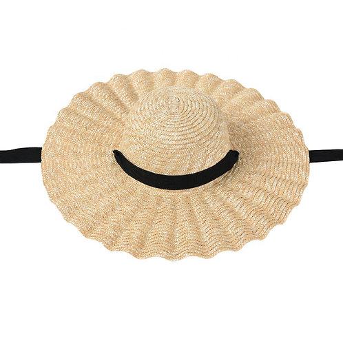 Ruffle Straw Hat