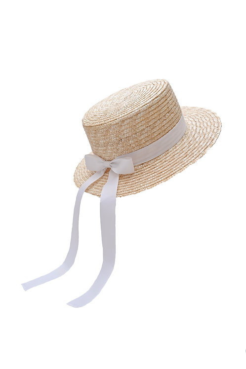 Classic Boater Hat (White)