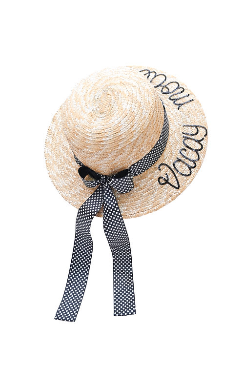 Vacay Mode (Long Tail Bow) Boater Hat