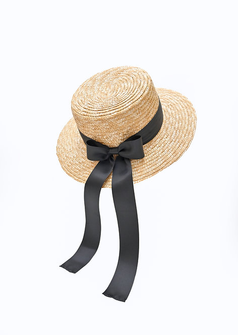 Classic Boater Hat (Black)