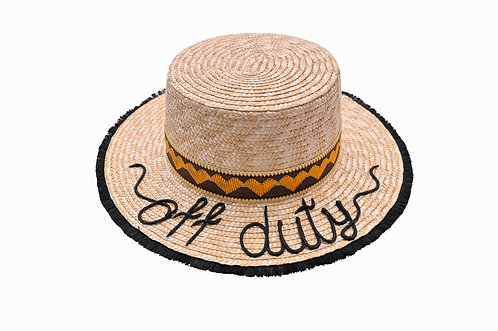 Off Duty Boater Hat