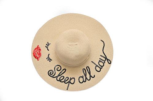 Sleep all day Floppy Hat