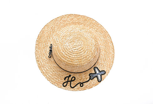 H (Classic Bow) Boater Hat