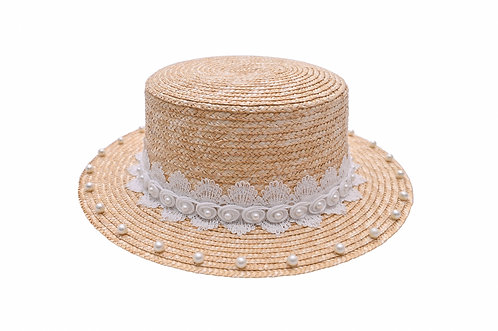 Timeless Pearl Boater Hat