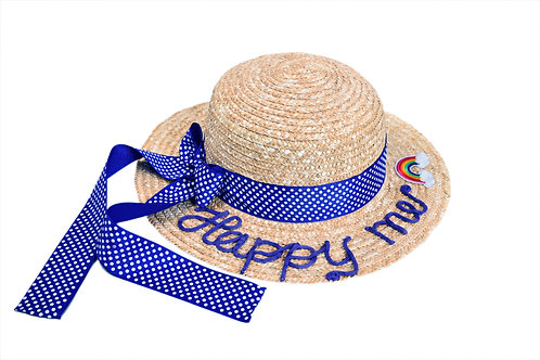 Happy Me (Long Tail Bow) Boater Hat