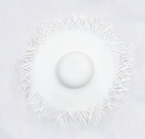White Raffia Hat