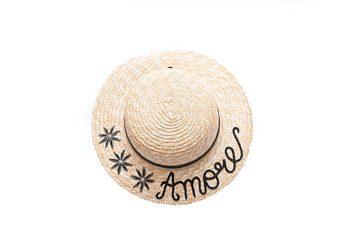 Amore (Short Bow) Boater Hat