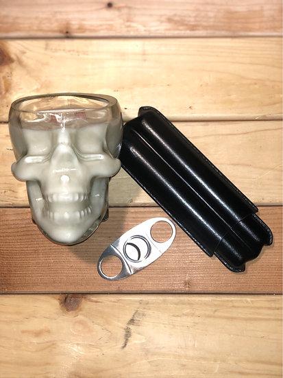Skull Cigar Gift Set