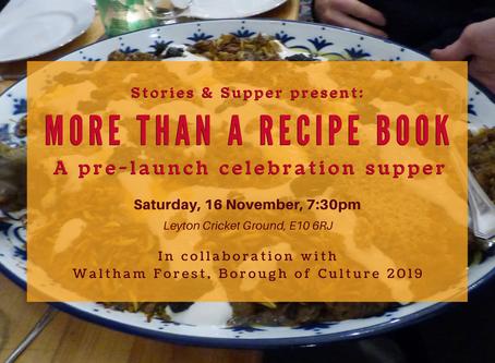 Pre-launch Supper, Menu Announced!