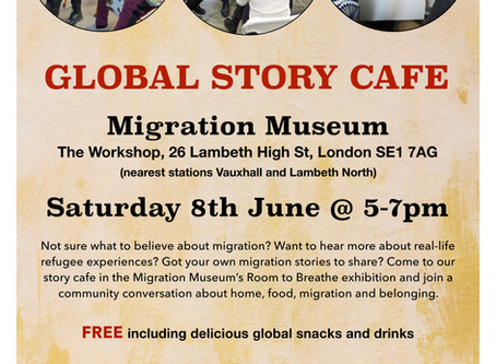 Story Cafe - Migration Museum 8th June