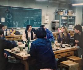 In the pottery studio, Joetsu University
