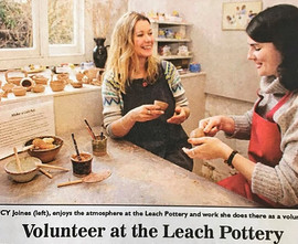 Newspaper article about volunteers at th