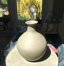 Bottle vase in the making.JPG