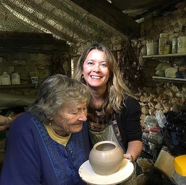 With my lovely Granny Lucy also a potter