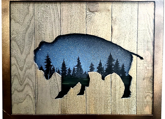 Bison in the Night Sky