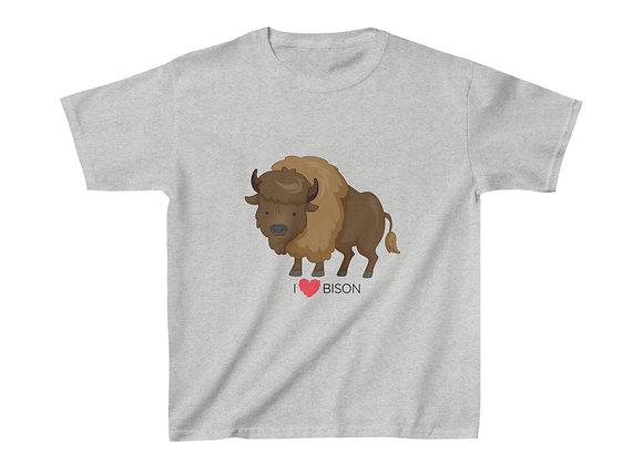I Love Bison - Kids Heavy Cotton™ Tee