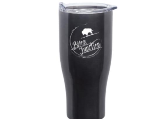 24 oz Travel Mug - Dark Gray Stainless Steel - Bison Junction