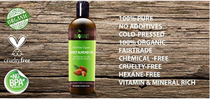 100% Pure Organic Sweet Almond Oil Carrier Oil for Essential Oils