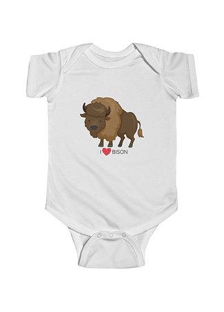 I Love Bison - Baby Onesie