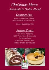 Christmas Menu Miami Bakehouse