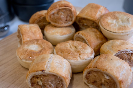 Party Pies and Sausage Rolls