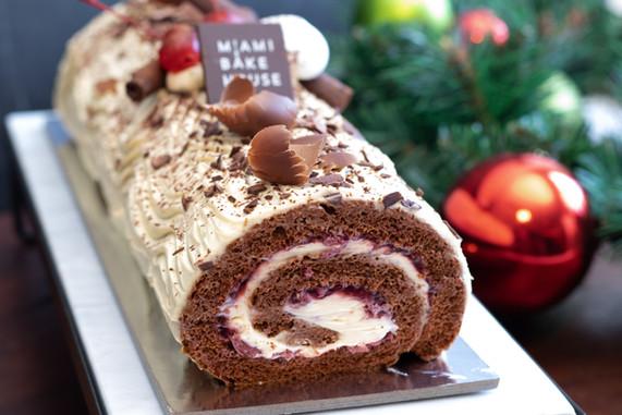 Christmas Black Forest Cake Roulade